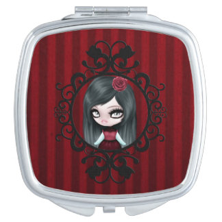 Retro Goth Gothic Doll Mirror For Makeup