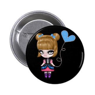Retro Goth Gothic Girly Design 2 Inch Round Button