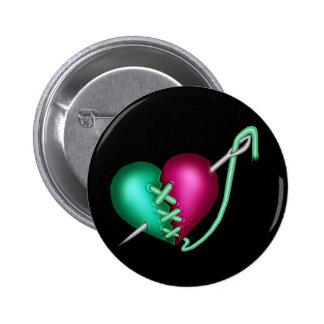 Retro Goth Gothic Zombie Heart 2 Inch Round Button