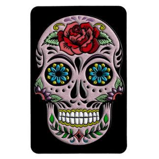 Retro Goth Sugar Skull Rectangular Photo Magnet
