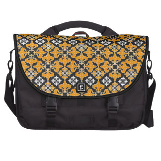 Retro Gothic Halloween Pattern Laptop Bags