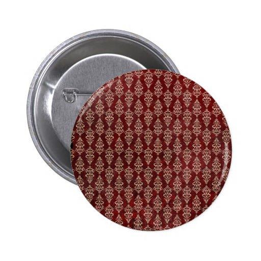 Retro Gothic Red Wallpaper 2 Inch Round Button
