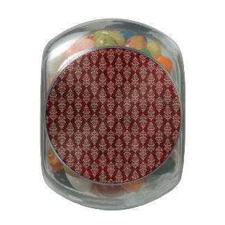 Retro Gothic Red Wallpaper Glass Candy Jar