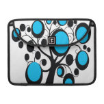 Retro Gothic Tree in Teal Sleeve For MacBook Pro