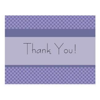 Retro gracias tarjetas postales