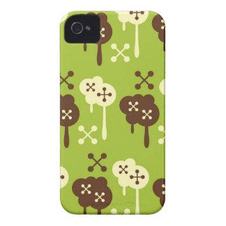 Retro graffiti splatter green kawaii cloud pattern iPhone 4 Case-Mate case