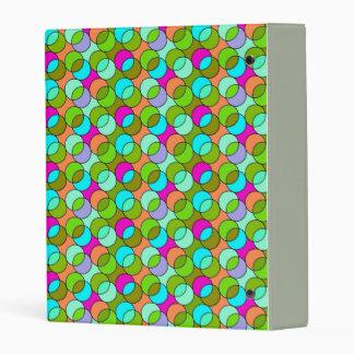 retro grahic pattern mini binder