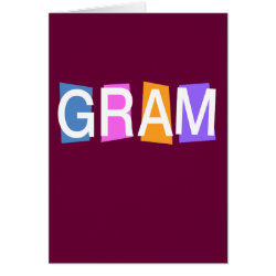 Retro Gram Greeting Card