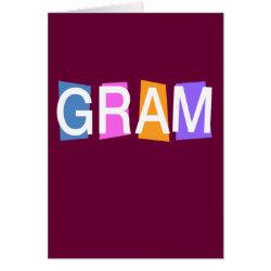 Greeting Card with Retro Gram design