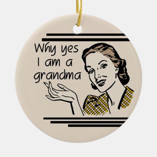 Retro Grandma T-shirts and Gifts Christmas Ornament