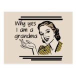 Retro Grandma T-shirts and Gifts Postcard