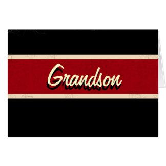 Retro grandson Birthday card