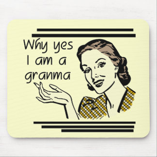 Retro Granma T-shirts and Gifts Mouse Pad