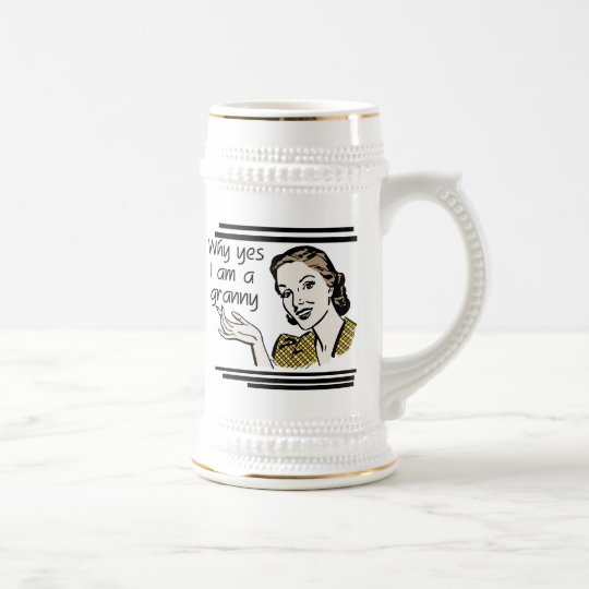 Retro Granny T-shirts and Gifts Beer Stein
