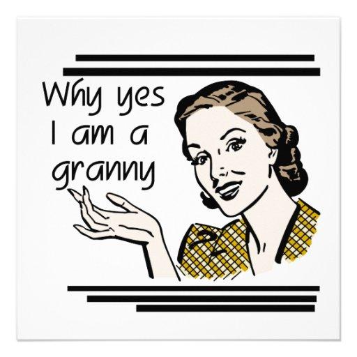 Retro Granny T-shirts and Gifts Invitations