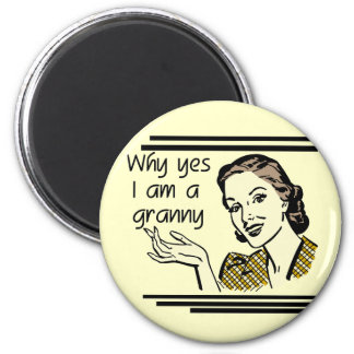 Retro Granny T-shirts and Gifts Fridge Magnets