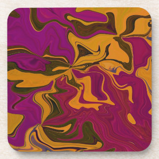 Retro Grape & Orange art Beverage Coaster