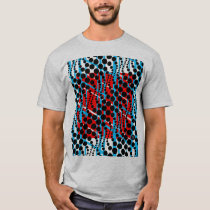 Retro Graphic Blue Red T-Shirt