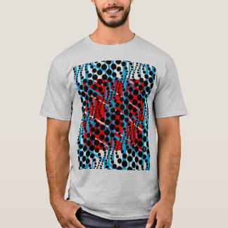 Retro Graphic Blue Red T-Shirt