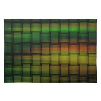 Retro graphic design cloth placemat