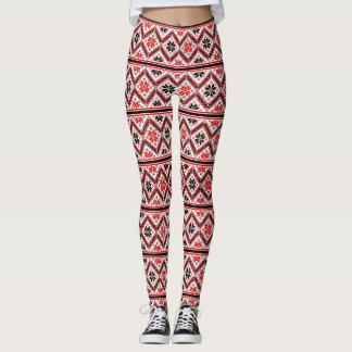 Retro Graphic Design Pattern Leggings