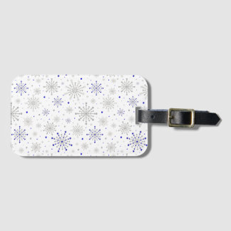 Retro Graphic Navy Silver Bag Tag