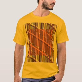 Retro Graphic Orange Stripe T-Shirt