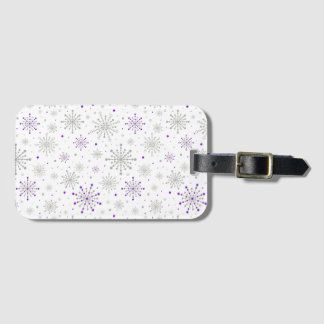 Retro Graphic Purple Silver Bag Tag