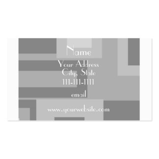 Retro gray squares personalized name Double-Sided standard business cards (Pack of 100)