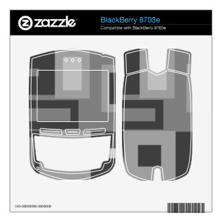 Retro gray squares BlackBerry 8703e skins