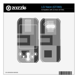 Retro gray squares skins for the LG neon