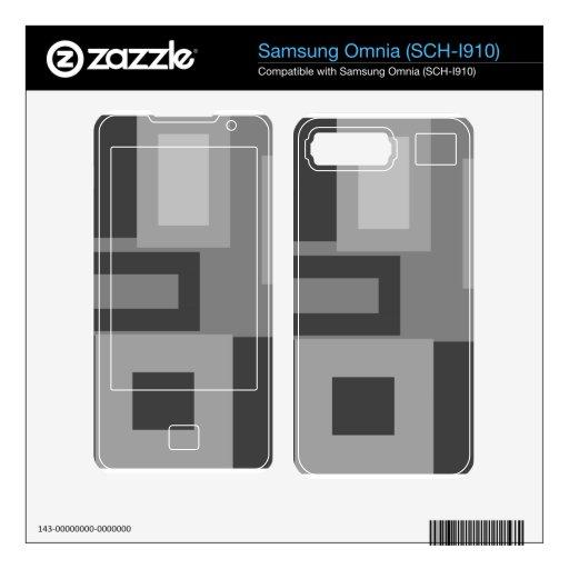 Retro gray squares skin for samsung omnia
