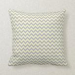 Retro Gray, Yellow & Whtie Chevron Pattern Pillow