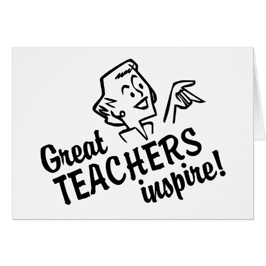 Retro Great Teachers Inspire Greeting Cards