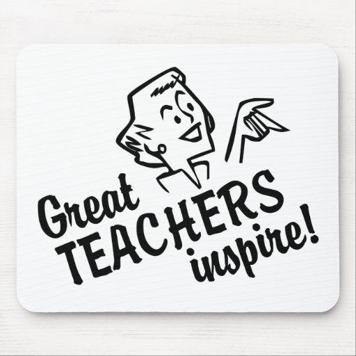 Retro Great Teachers Inspire Mousepad