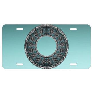 Retro Greek Disc License Plate