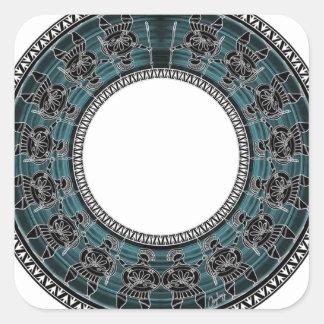 Retro Greek Disc Square Sticker