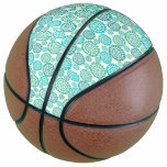 Retro,green,70's,floral,vintage,template,chic,cust Basketball