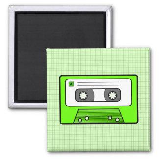 "Retro Green 80""s Mixtape Magnet"