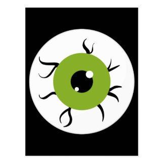 Retro Green and Black Eyeball Post Cards