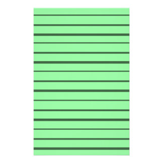 Retro Green and Black Stripes Stationery Design