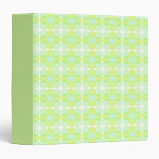 Retro Green and Blue Binder