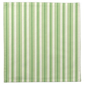 Retro Green and Cream Awning Stripes Napkin