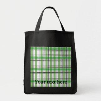 Retro green and white plaid bags