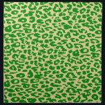 "Retro green animal print skin texture of leopard cloth napkin<br><div class=""desc"">Retro seamless animal print skin texture</div>"