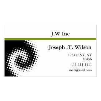 Retro green Business Cards