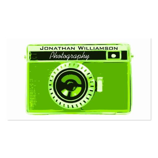 Retro Green Camera Photography Business Cards