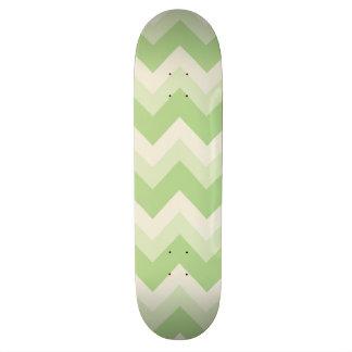 Retro Green Chevron Skateboard