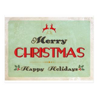 Retro Green Christmas Card