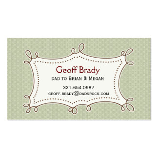 Retro Green Daddy Card Double-Sided Standard Business Cards (Pack Of 100)